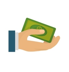hand human with bill money dollar isolated icon vector image