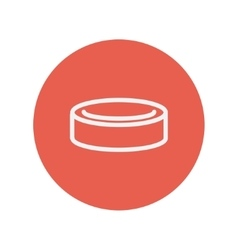 Hockey puck thin line icon vector image