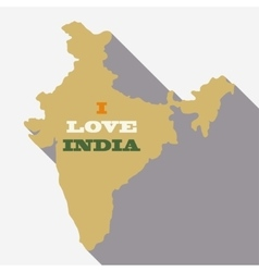 India map - vector image vector image