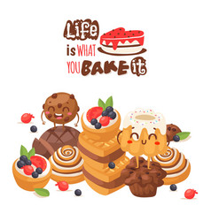 dessert quote vector images over