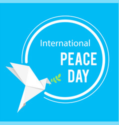 international peace day origami dove birds circle vector image