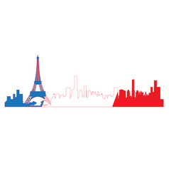 isolated cityscape of paris vector image