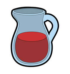 Juice pitcher icon vector