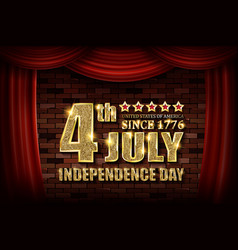 july 4 is independence day vector image