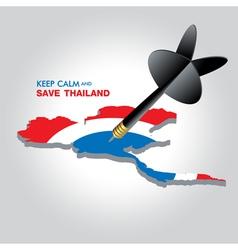 KEEP CALM AND SAVE THAILAND vector