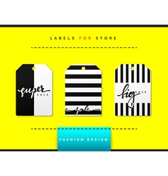 Label set for clothing sales Abstract modern vector
