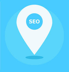 Local seo marketing banner icon vector
