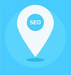 local seo marketing banner icon vector image