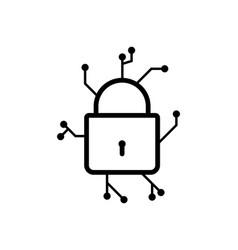 locked icon trendy modern flat linear locked icon vector image