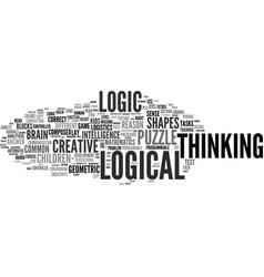 Logical word cloud concept vector