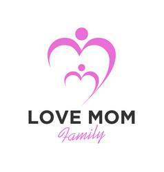 Love mo family logo health care vector