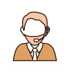 man call center vector image