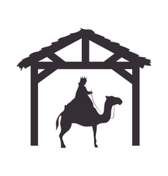 manger traditional design vector image