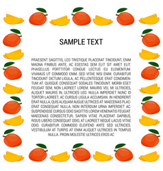 Mango frame with text vector