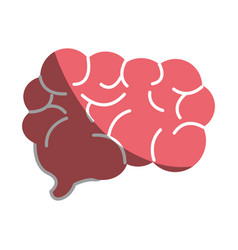 mental health smart brain icon vector image