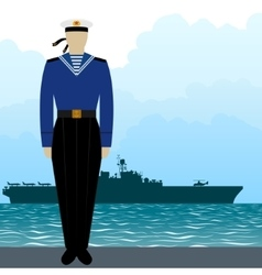Military uniform navy sailor vector
