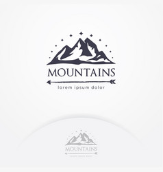 mountains logo design vector image