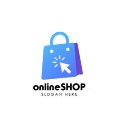 online shop logo design icon shopping logo design vector image