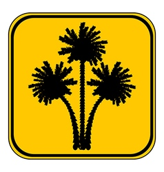 Palm button vector