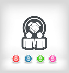 partnership agreement icon vector image