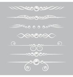 Pearl dividers page decor set vector