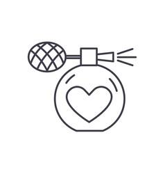 perfumery line icon concept perfumery vector image