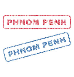 Phnom penh textile stamps vector