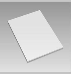 Realistic blank closed magazine mockup vector