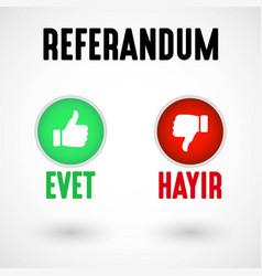 referendum in turkey vector image