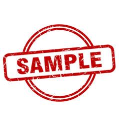 Sample grunge stamp vector