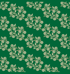 Seamless pattern in the form of openwork twigs vector