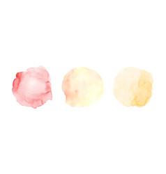 Set three yellow gradient orange watercolor vector