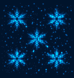 Shining abstract snowflakes background vector