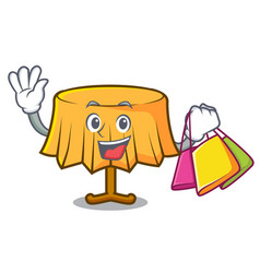 shopping table cloth character cartoon vector image
