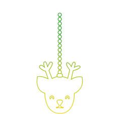 silhouette reindeer head hanging to merry vector image