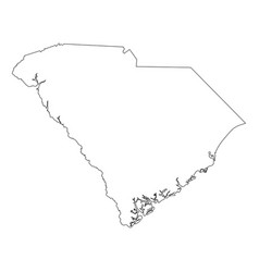 south carolina sc state border usa map outline vector image
