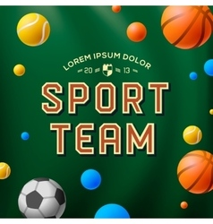 Sport team template poster flyer vector