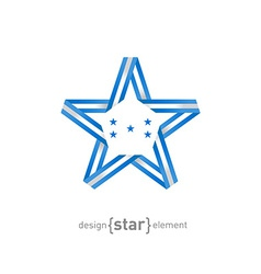 star with Honduras flag colors and symbols design vector image