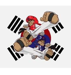 Taekwondo martial art vector