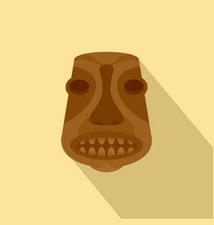 tiki idol icon flat style vector image