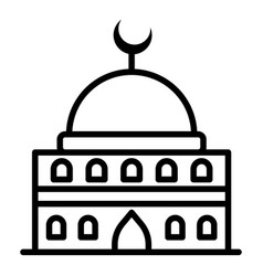 Traditional mosque icon outline style vector