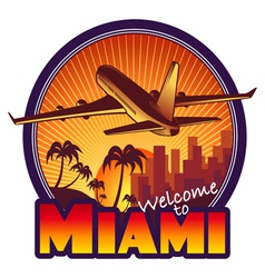 Travel Miami vector image