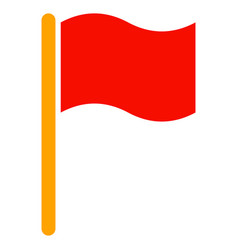 Waving flag flat icon vector