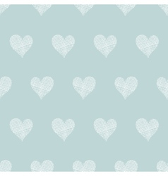 White lace hearts textile texture seamless pattern vector image