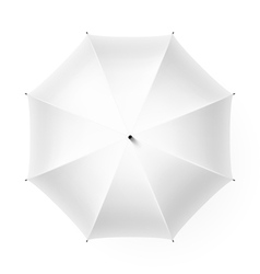 White umbrella vector image