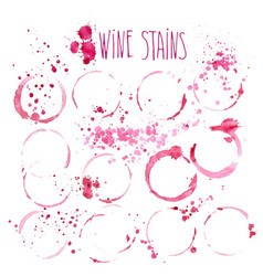 wine stains watercolor wine vector image