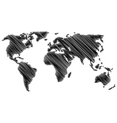 world map - scribble vector image