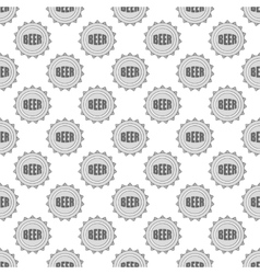 Cover beer seamless pattern vector image
