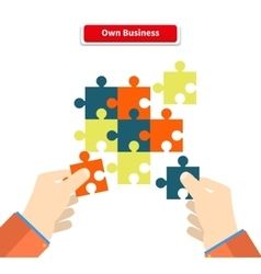 Creating or Building Own Business Concept vector image vector image