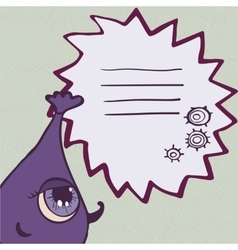 Funny purple monster with frame for text vector image